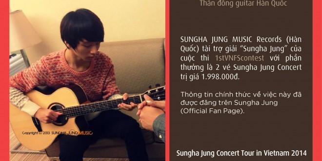 """Sungha Jung Music Records (Hàn Quốc) tài trợ giải """"Sungha Jung"""" cho cuộc thi 1stVNFScontest"""