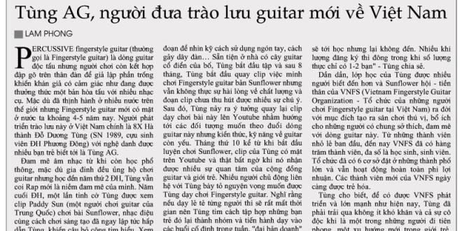 (HNM) Tùng AG, người đưa trào lưu guitar mới về Việt Nam (May 18, 2014)