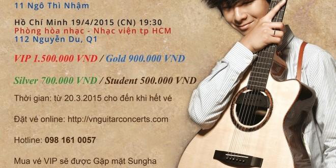 Thông báo bán vé Sungha Jung concert