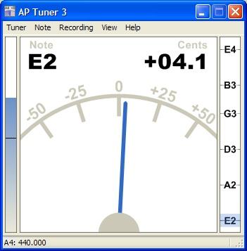 AP Tuner 3.08 – Phần mềm lên dây đàn trên máy tính