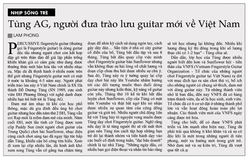 Tung AG nguoi dua trao luu guitar moi ve Viet Nam